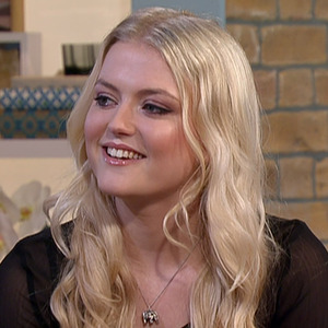 Corrie star Lucy Fallon on This Morning  - 26 March 2015.