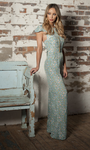 Lauren Pope wearing jumpsuit from In The Style range