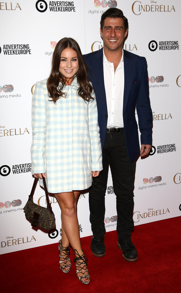 Louise Thompson and Alik Alfus attend an exclusive preview screening of Disney's Cinderella hosted by Digital Cinema Media as part of Advertising Week Europe 2015 at the May Fair Hotel on March 24, 2015 in London, England.
