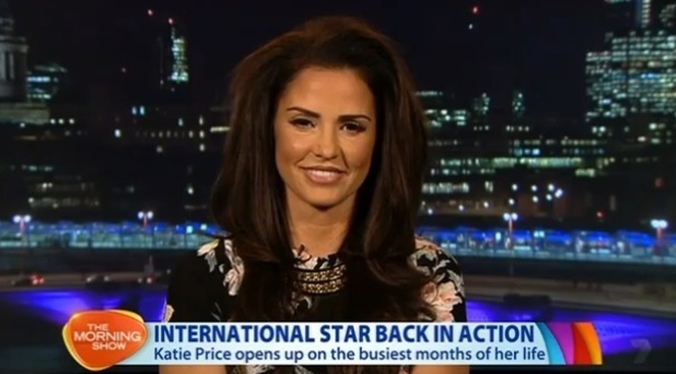 Katie Price appearing on Australian TV, 25 March 2015
