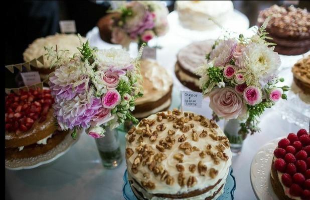 Cakes at a wedding