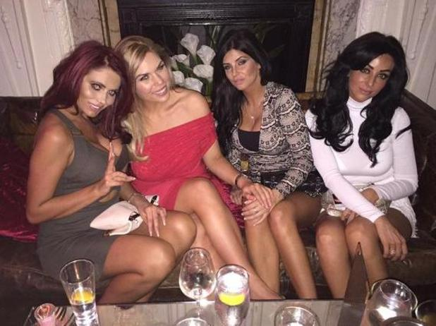 Amy Childs parties with TOWIE's Frankie Essex at Sheesh in Chigwell - 25 March 2015.