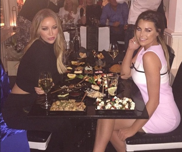 Lauren Pope and Jessica Wright at Sheesh Chigwell, Essex 26 March
