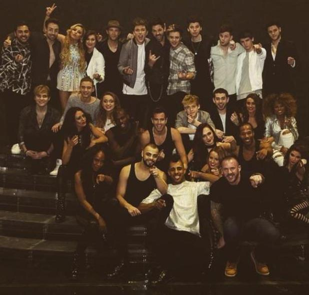X Factor star Fleur East shares group photo as the tour wraps up - 24 March 2015.