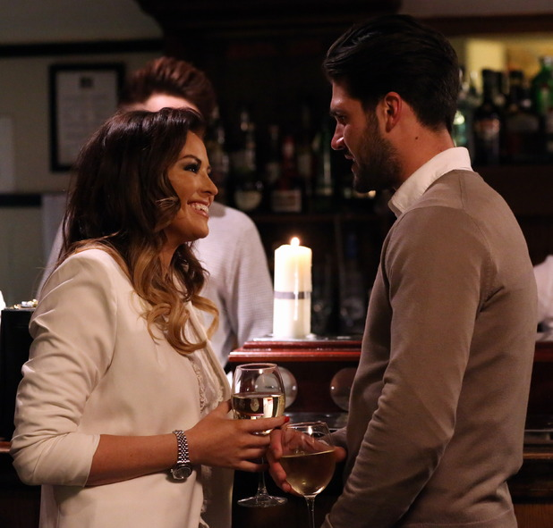 The Only Way is Essex's Jessica Wright and Dan Edgar filming in Porthcawl, Wales, Britain - 24 Mar 2015.