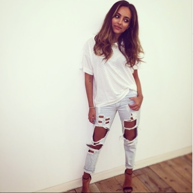 Jade Thirlwall looks super stylish in on-trend ripped jeans