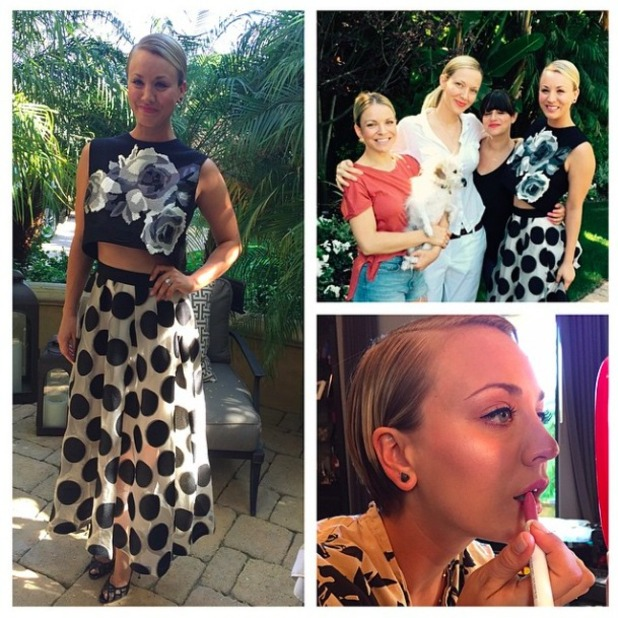 Kaley Cuoco-Sweeting shows off look ahead of the Nickelodeon Awards, 28 March 2015