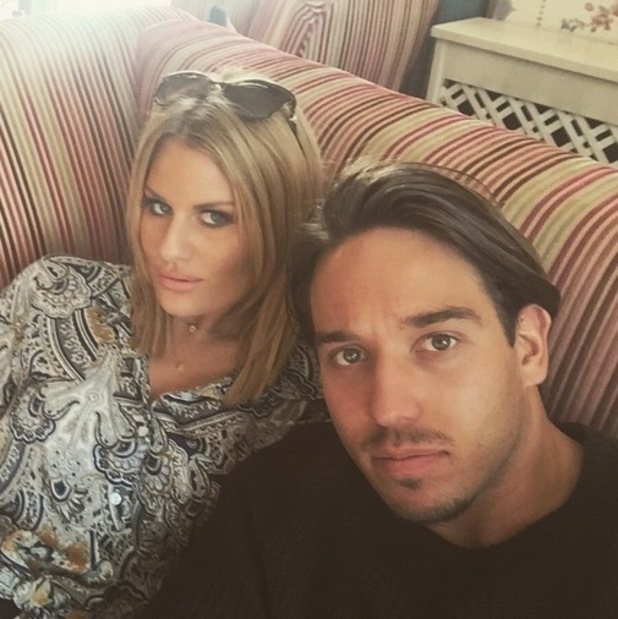 Danielle Armstrong and James Lock during TOWIE filming in Wales 25 March