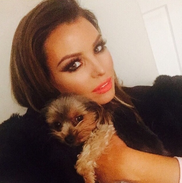 Jessica Wright celebrates International Puppy Day with photo of dog Bella, Instagram 24 March