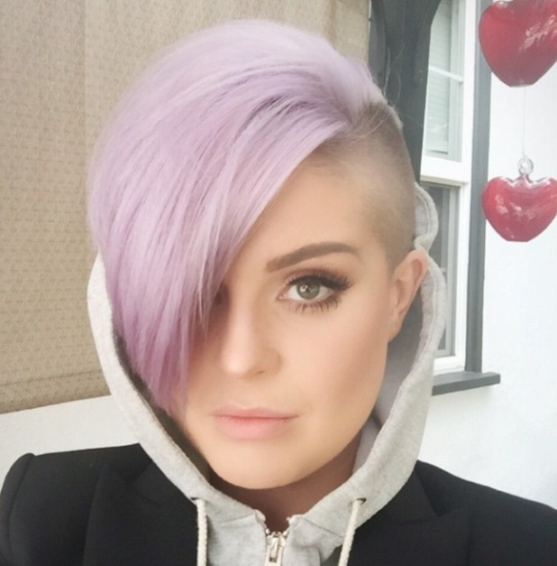 Kelly Osbourne shows off her side-parted mohawk,10 March 2015