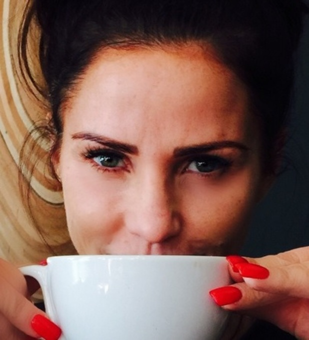 Katie Price shows off post-Botox face, 24 March 2015
