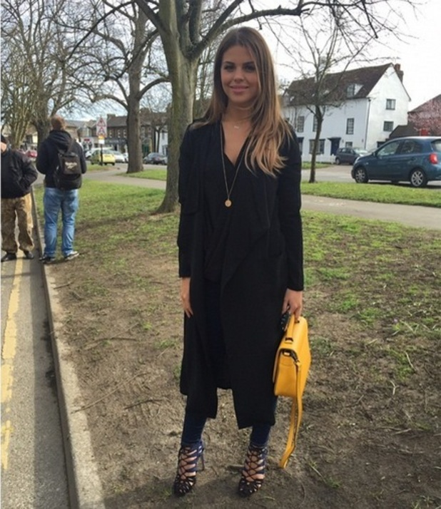 Chloe Lewis filming new scenes for TOWIE, Instagram 27 March