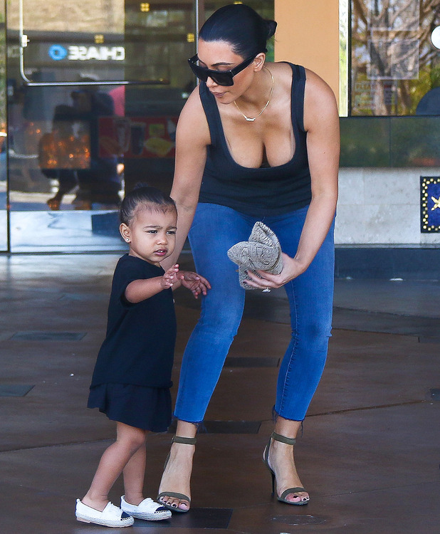 Kim Kardashian and daughter North out and about in sunny Los Angeles, 28 Mar 2015