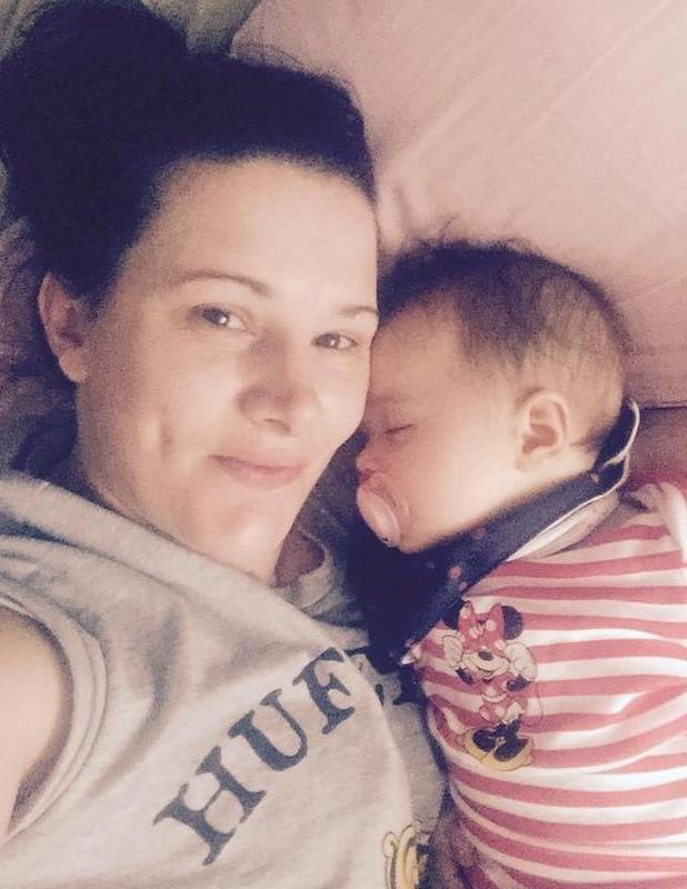 X Factor star Sam Bailey shares cute photo of her baby daughter Miley sleeping - 23 March 2015.