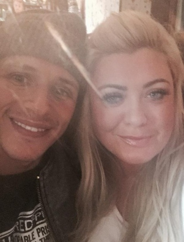 Gemma Collins and Jake Hall filming for TOWIE in Wales, Twitter 25 March