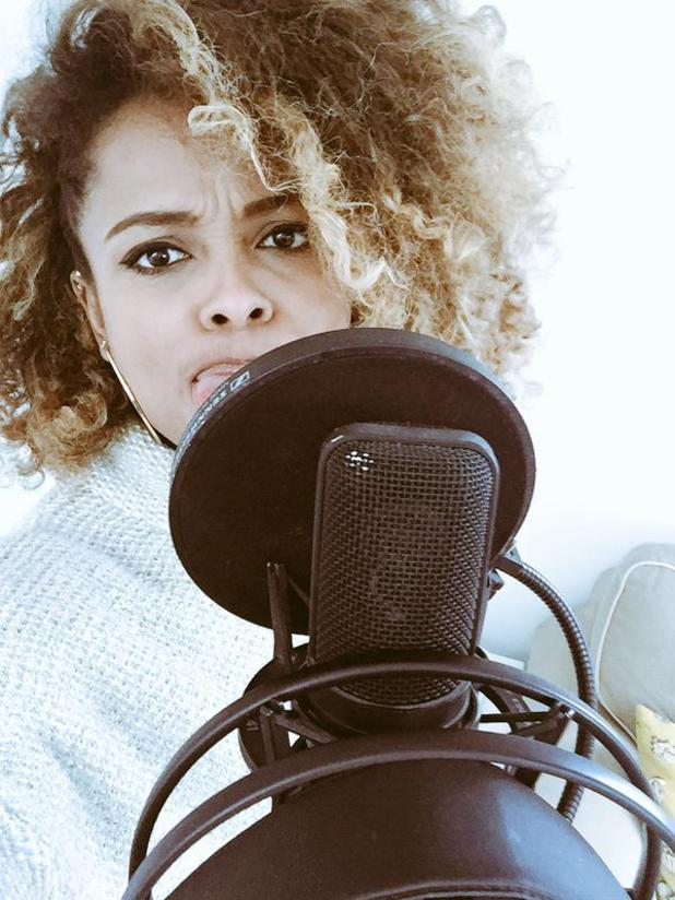 X Factor star Fleur East records new music - 26 March 2015.