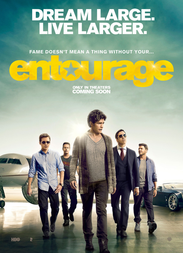 Entourage film poster to be released in the UK on 19 June 2015.