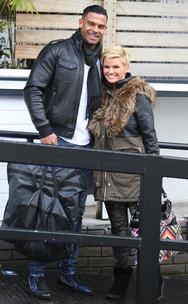 Kerry Katona and husband George Kay outside the ITV Studios - 03/26/2015 London, United Kingdom