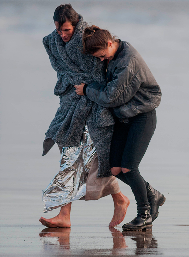 'The Only Way is Essex' cast filming, Porthcawl, Wales, Britain - 25 Mar 2015 Chloe Lewis and Jake Hall