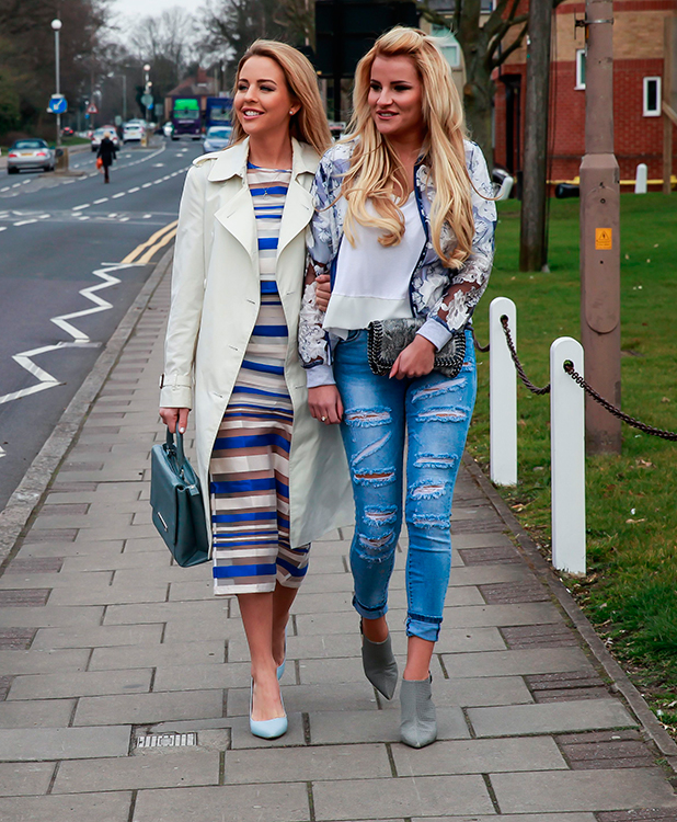 'The Only Way is Essex' cast filming, Britain - 23 Mar 2015 Lydia Bright and Georgia Kousoulou