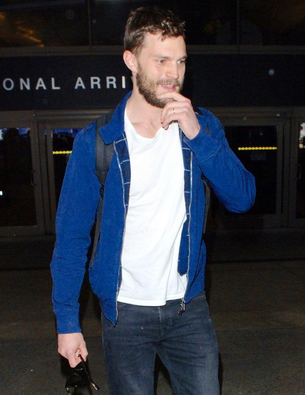 '50 Shades of Grey' star Jamie Dornan arrives at Los Angeles International Airport (LAX) 24 March 2015