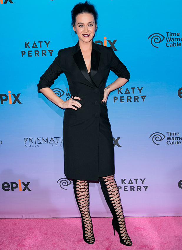 Katy Perry at premiere screening of EPIX's 'Katy Perry: The Prismatic World Tour' at The Theatre at Ace Hotel - Arrivals, 26 March 2015