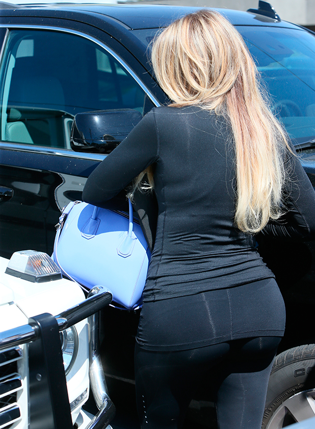 Khloe Kardashian seen leaving Meche salon, 25 March 2015