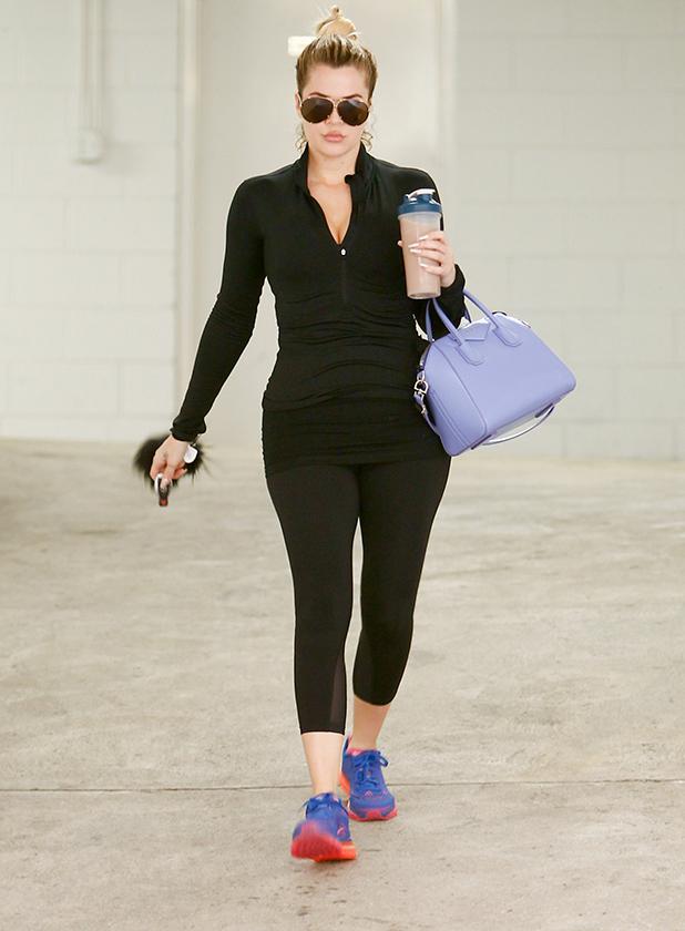 Khloe Kardashian is seen in Los Angeles on March 25, 2015 in Los Angeles, California.