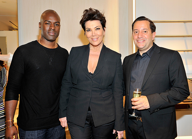 Corey Gambele, tv personality Kris Jenner and Celebrity Fashion Stylist & Image Consultant Toni Ferrara attend Fifth Avenue Club Grand Opening for Toni Ferrara at Saks Fifth Avenue Beverly Hills on March 26, 2015 in Beverly Hills, California.