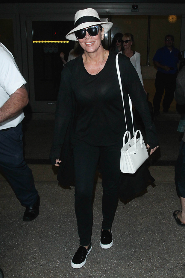 Kris Jenner seen at LAX on March 21, 2015 in Los Angeles, California.