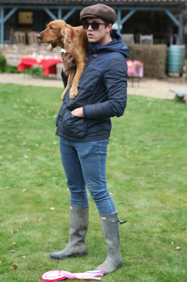 'The Only Way is Essex' cast filming, Britain - 21 Mar 2015 Lewis Bloor takes a break