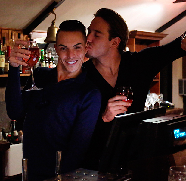 'The Only Way is Essex' cast filming, Porthcawl, Wales, Britain - 24 Mar 2015 Bobby Cole Norris and James Lock