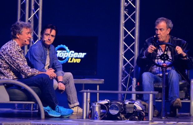 Top Gear Live UK Arena Tour 2015 held at the Echo Arena Liverpool James May, Richard Hammond, Jeremy Clarkson