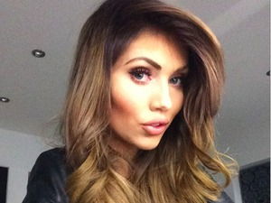 Amy Childs shows off new brunette locks, 3 April 2015