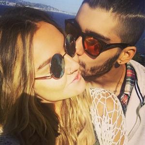 Zayn Malik kisses Perrie Edwards, Instagram, 1 April 2015