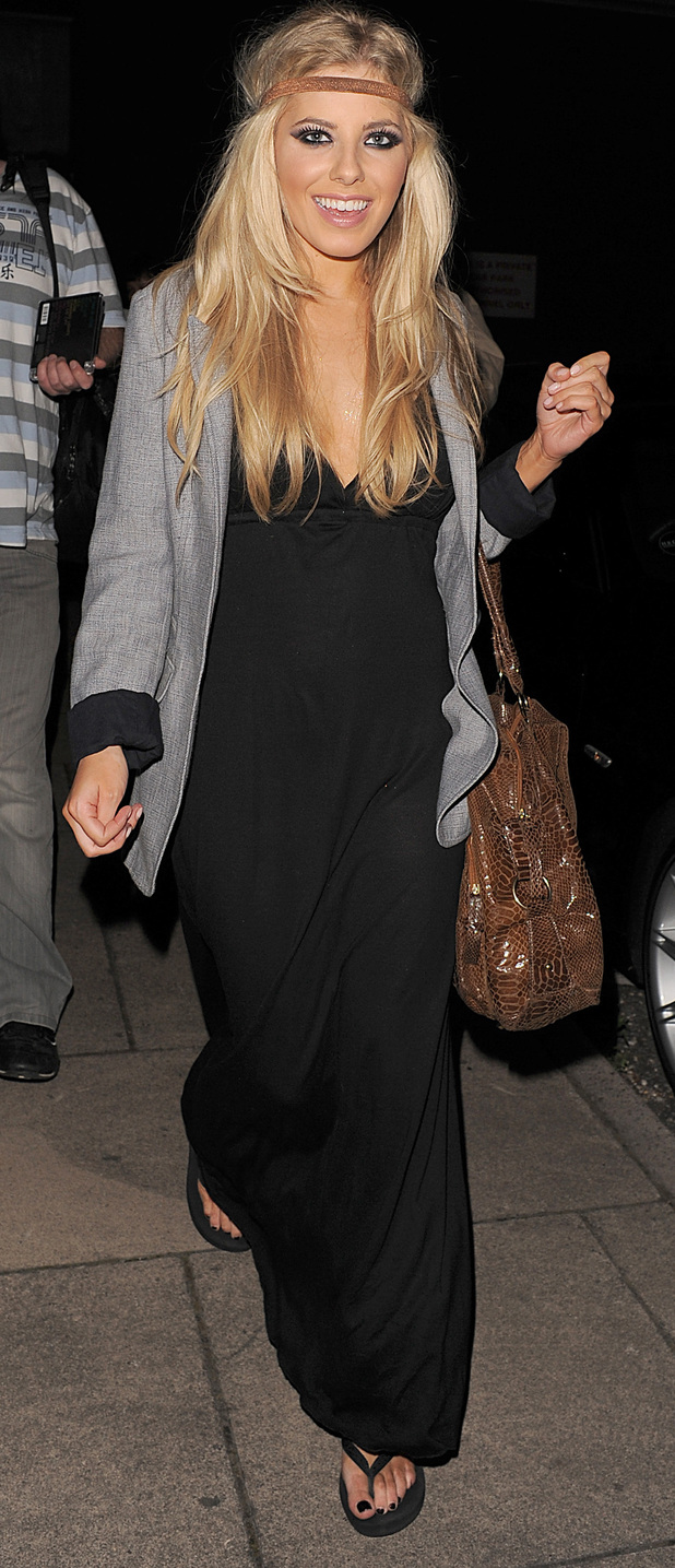 Mollie King leaving The Hexagon, Reading, 6/16/19