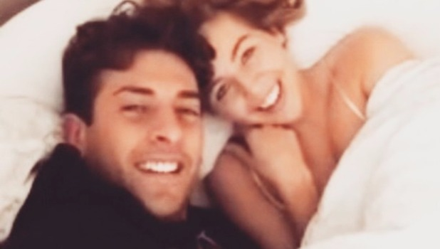 Lydia Bright and James 'Arg' Argent confirm they are back together with bed selfie, Easter Sunday 2015