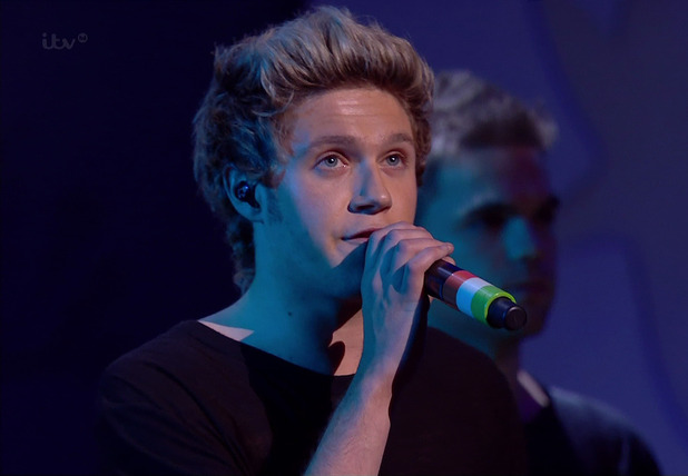 Niall Horan of One Direction during the band's performance of 'Night Changes' at the 'Royal Variety Performance 2014'
