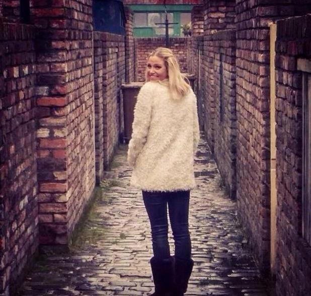 Sarah Harding joins Coronation Street - 1 April 2015.