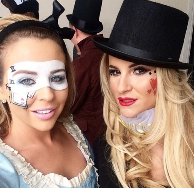 TOWIE's Lydia Bright and Georgia Kousoulou prepare to film series finale - 1 April 2015.
