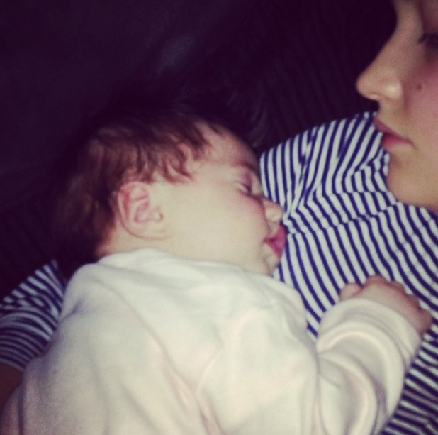 Jacqueline Jossa snuggles baby Ella in new Instagram picture, 31 March 2015
