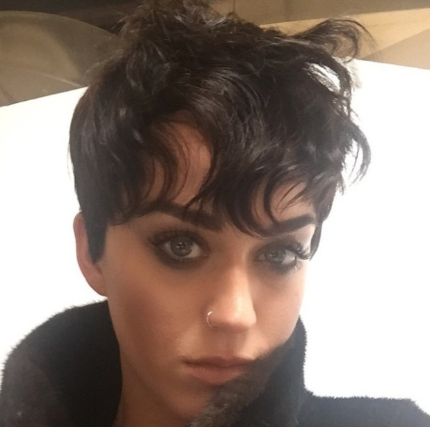 Katy Perry shows off Kris Jenner hairstyle - 1 April 2015.