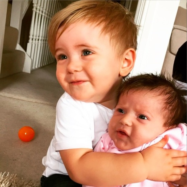 TOWIE's Dan Osborne shares heart-achingly cute photo of his two children, Teddy and Ella, 3 April 2015