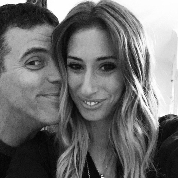 Stacey Solomon and boyfriend Steve-O cuddle up, 13 March 2015