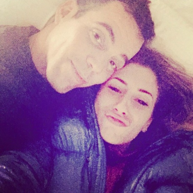 Stacey Solomon and boyfriend Steve-O pose for silly selfie, 6 February 2015