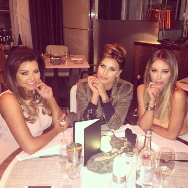 Lauren Pope, Jessica Wright and Ferne McCann at Sixty One restaurant in London, 4 April 2015