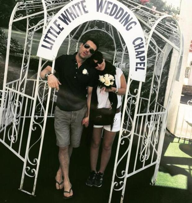 Davina McCall and husband Matthew Robertson renew wedding vows in Las Vegas after 15 years - 29 March 2015.