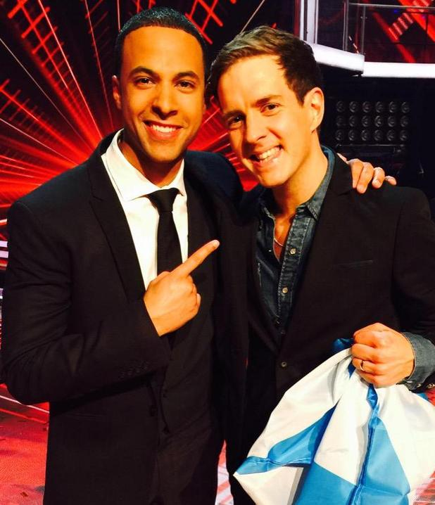 Marvin Humes shares picture with The Voice winner Stevie McCrorie, 4 April 2015