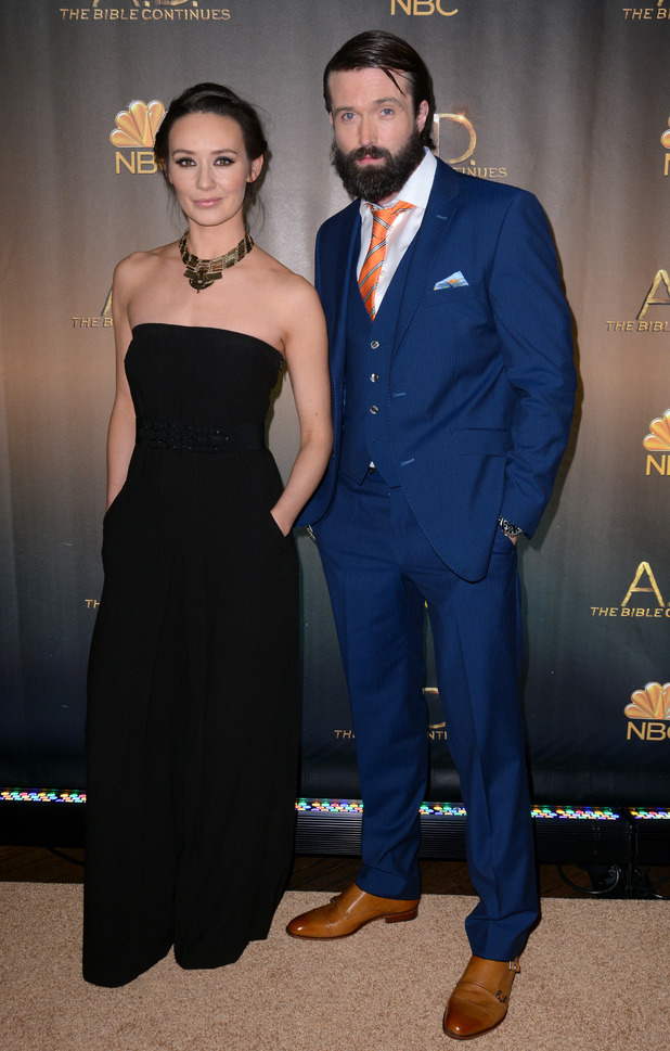 """Claire Cooper and Emmett Scanlan at """"A.D. The Bible Continues"""" New York Premiere - Red Carpet Arrivals. 1 April 2015."""