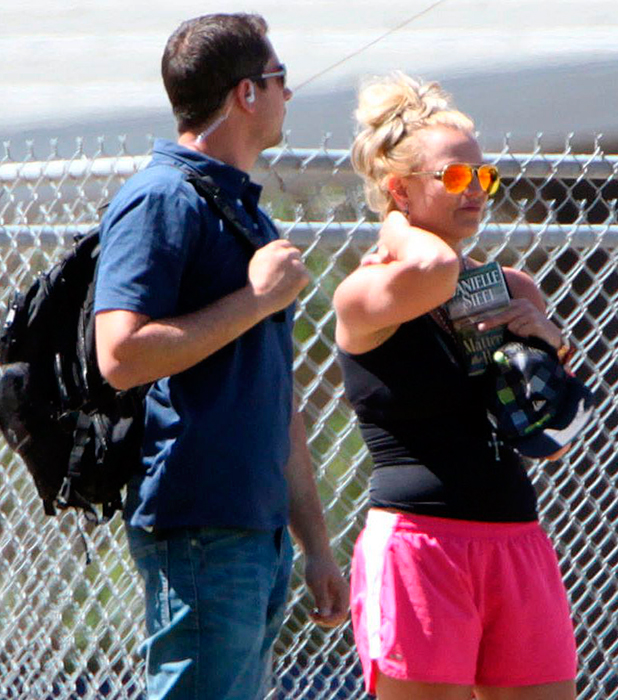 Britney Spears is seen in Los Angeles on March 29, 2015 in Los Angeles, California. (